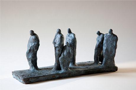 Fabienne SANNER - Après le long voyage ou les yeux étaient clos – Terre cuite patinée – pièce unique 18x12x30 cm
