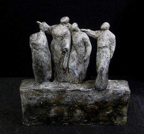 Fabienne SANNER - J'errais dans l'or du vent – Jules Supervielle – Terre cuite patinée – pièce unique 18x7x20 cm